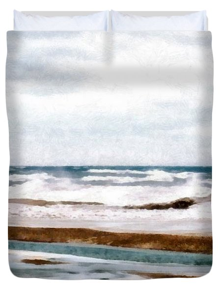 Winter Shore Duvet Cover