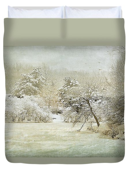 Winter Silence Duvet Cover