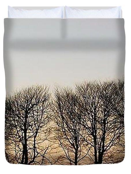 Winter Skyline Duvet Cover