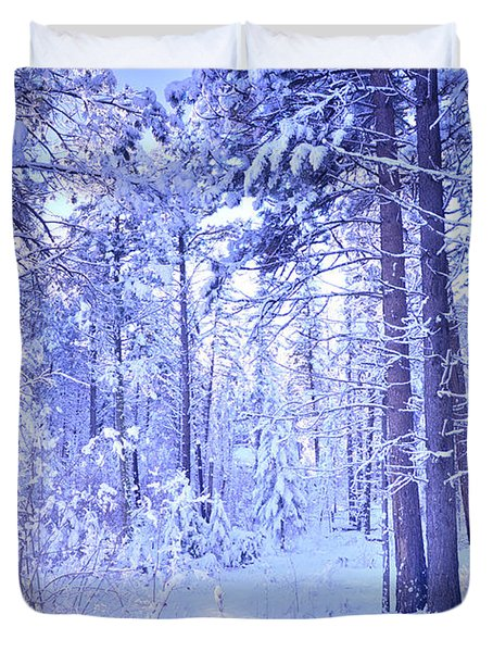Winter Solace Duvet Cover by Tara Turner