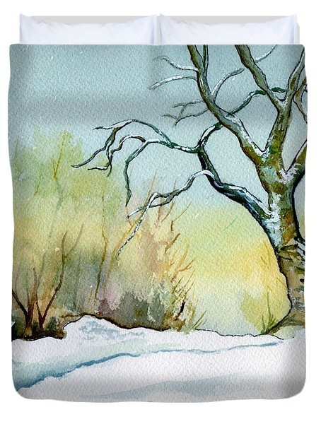 Winter Solitude Duvet Cover by Brenda Owen