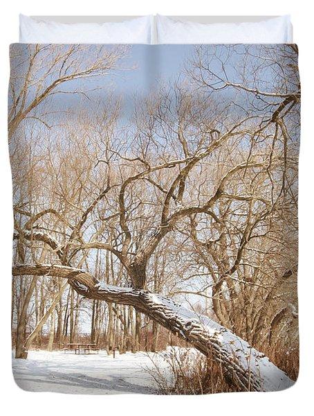 Winter Solitude Duvet Cover