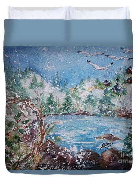 Winter Solstice Duvet Cover by Ellen Levinson