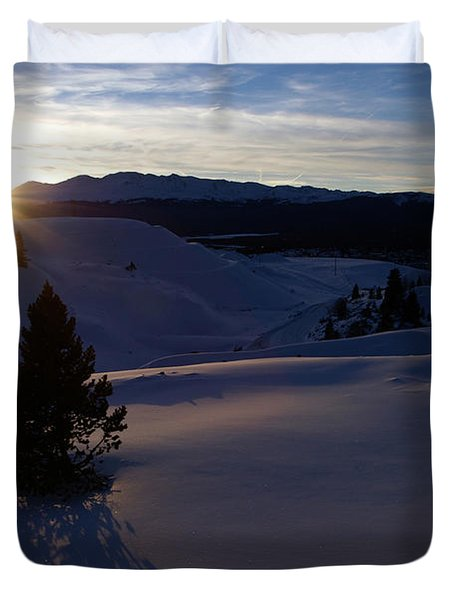 Winter Solstice Duvet Cover by Jeremy Rhoades