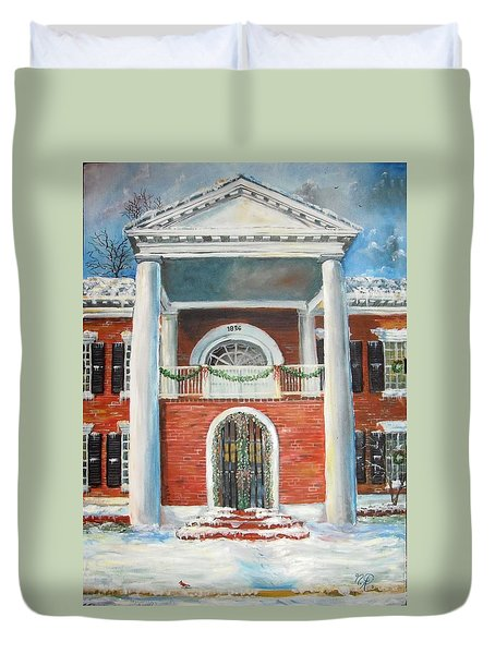 Winter Spirit In Dahlonega Duvet Cover