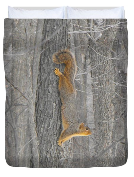 Winter Squirrel Duvet Cover