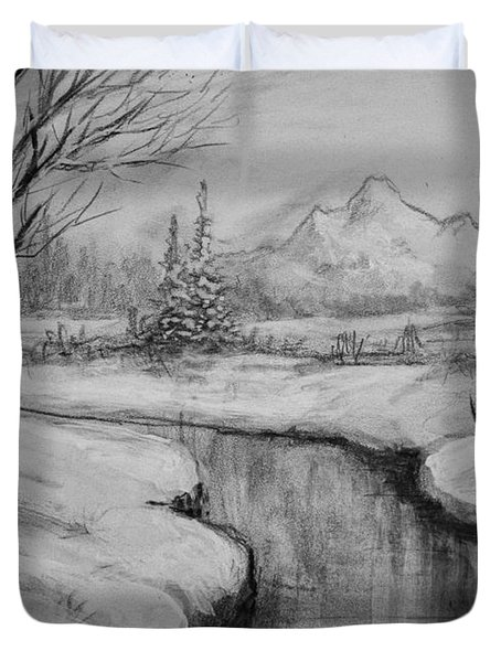 Winter Stillness Duvet Cover by C Steele