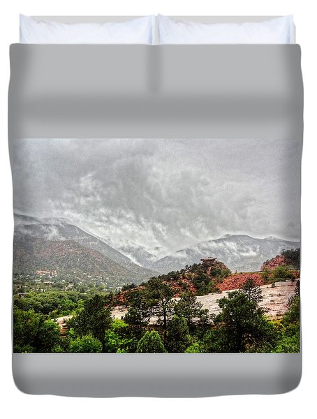 Winter Storm On A Summer Day Duvet Cover