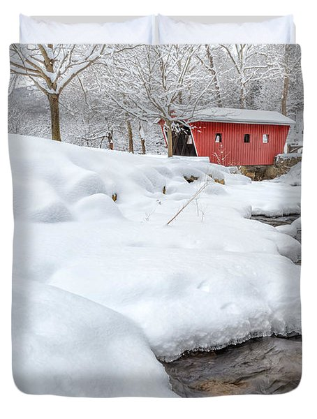 Winter Stream Duvet Cover by Bill Wakeley