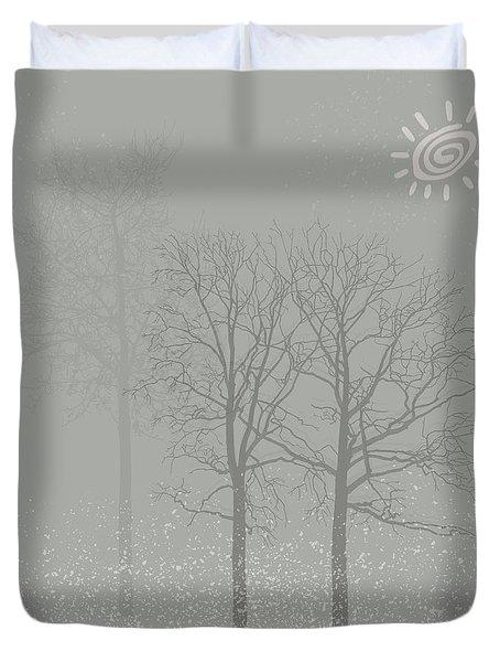 Winter Sun Duvet Cover by Kandy Hurley