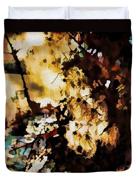 Duvet Cover featuring the photograph Winter Sun by Kathy Bassett
