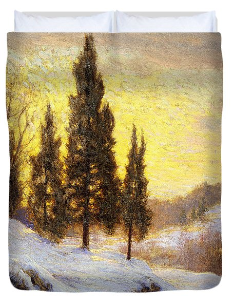 Winter Sundown Duvet Cover by Walter Launt Palmer