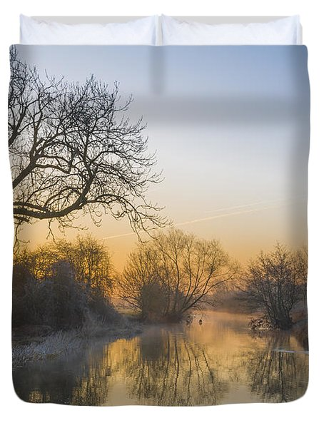 Duvet Cover featuring the photograph Winter Sunrise by Trevor Chriss