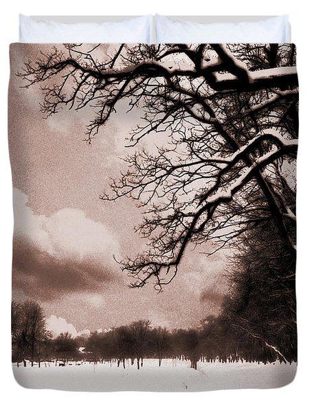 Winter Tale Duvet Cover by Nina Ficur Feenan