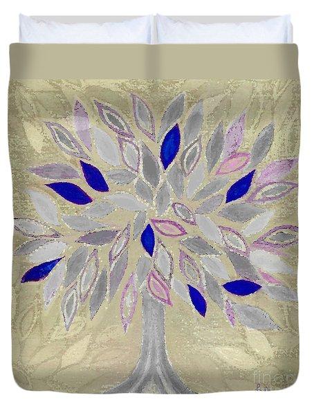 Winter Tree Duvet Cover by Barbara Moignard