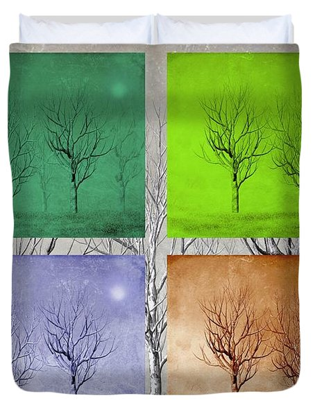 Winter Trees  Duvet Cover by David Dehner