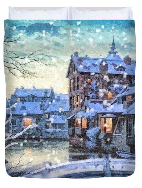Winter Twilight Duvet Cover