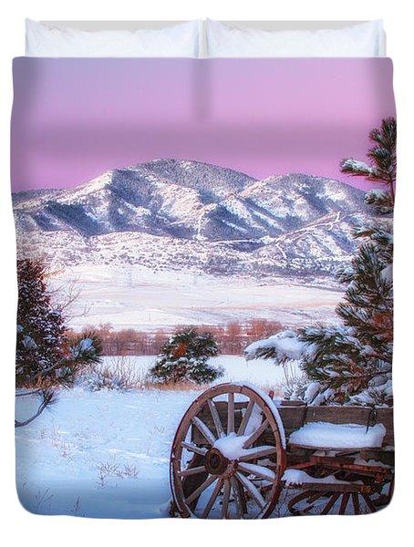 Winter Wagon Duvet Cover