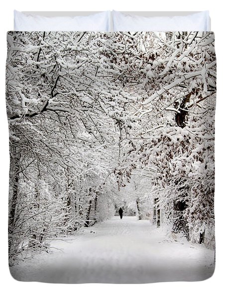 Winter Walk In Fairytale  Duvet Cover