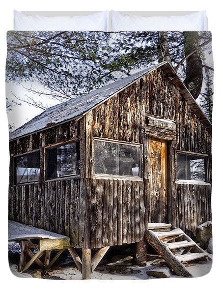 Winter Warming Hut Duvet Cover by Edward Fielding