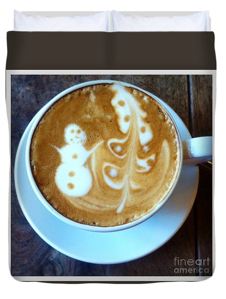 Winter Warmth Latte Duvet Cover