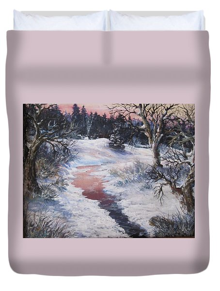 Winter Warmth Duvet Cover by Megan Walsh