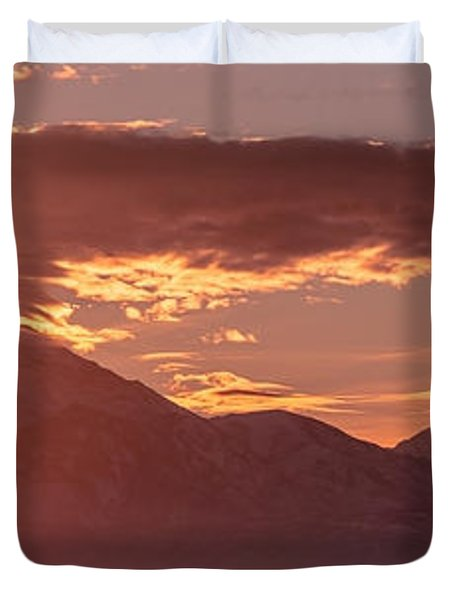 Winter Wasatch Daybreak Duvet Cover by Chad Dutson
