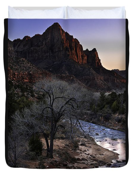 Winter Watchman Duvet Cover by Chad Dutson