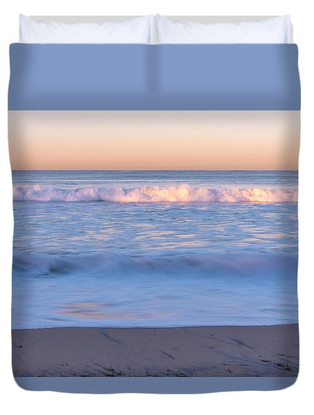 Winter Waves 7 Duvet Cover by Priya Ghose