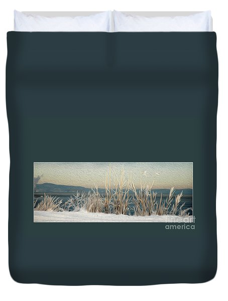 Winter Weeds Duvet Cover