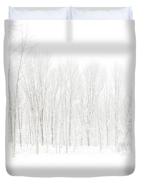 Winter White Out Duvet Cover by Karol Livote