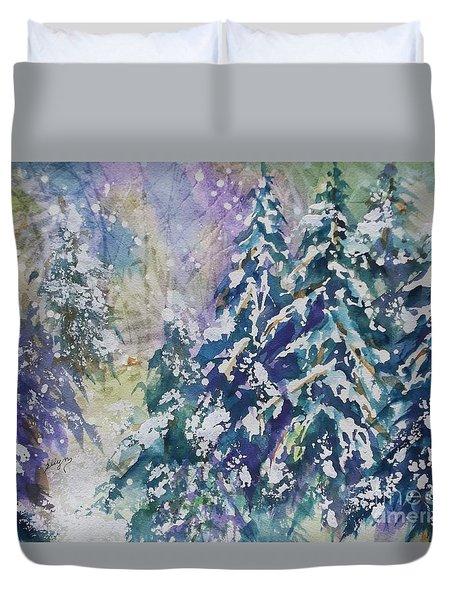 Winter Winds Duvet Cover by Ellen Levinson