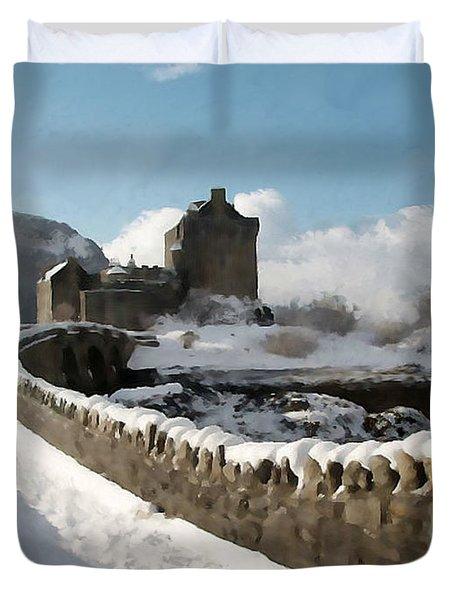 Winter Wonder Walkway Duvet Cover by Bruce Nutting