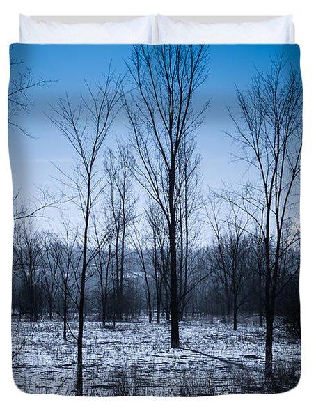 Duvet Cover featuring the photograph Winter Wonderland by Bianca Nadeau