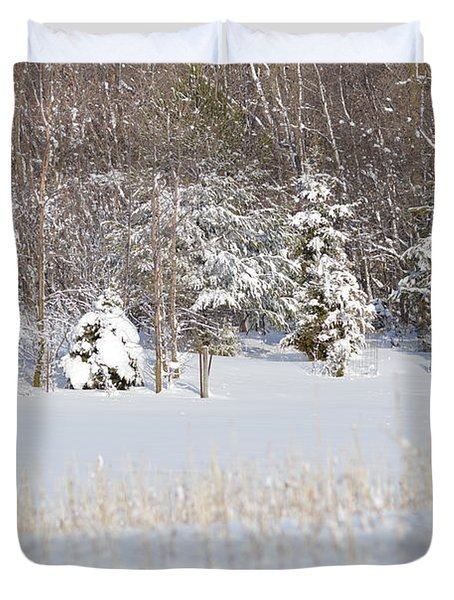 Duvet Cover featuring the photograph Winter Wonderland by Dacia Doroff