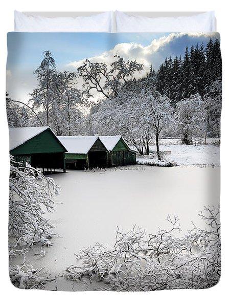 Winter Wonderland Duvet Cover by Grant Glendinning