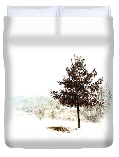 Winter Wonderland  Duvet Cover by Kerri Farley