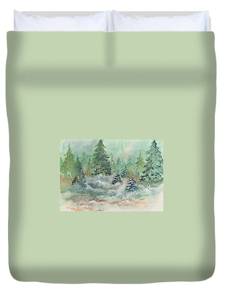 Winter Wonderland Duvet Cover by Lee Beuther