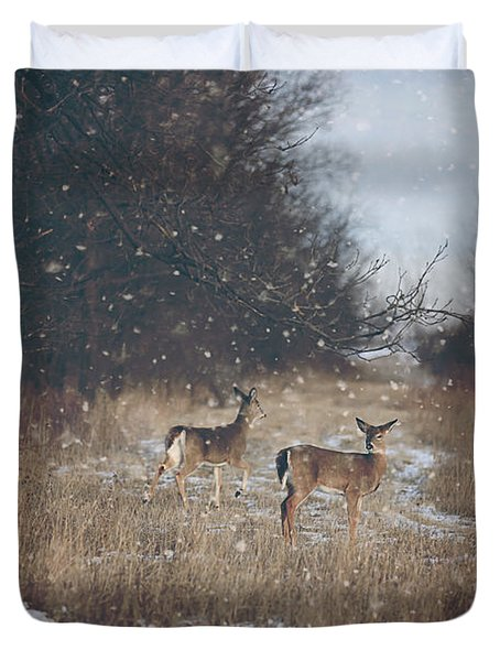 Winter Wonders Duvet Cover by Carrie Ann Grippo-Pike