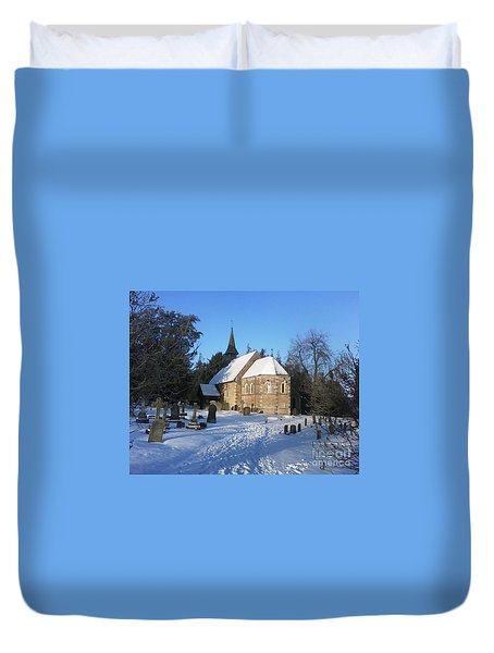Duvet Cover featuring the photograph Winter Worship by John Williams