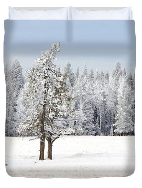 Winter's Coat Duvet Cover by Dee Cresswell