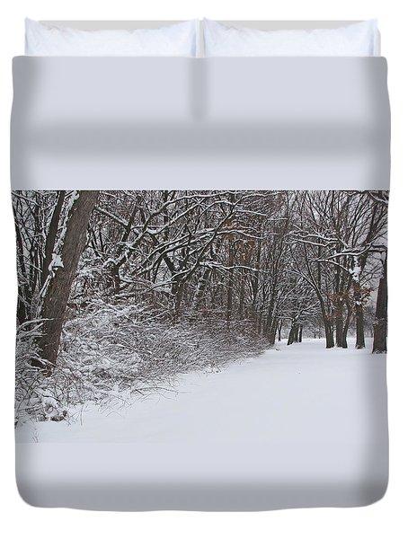 Winters Delight 2 Duvet Cover by Cedric Hampton