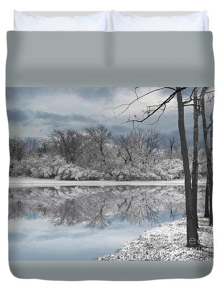 Winters Delight 6 Duvet Cover by Cedric Hampton