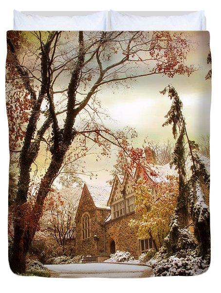 Winter's Entrance Duvet Cover