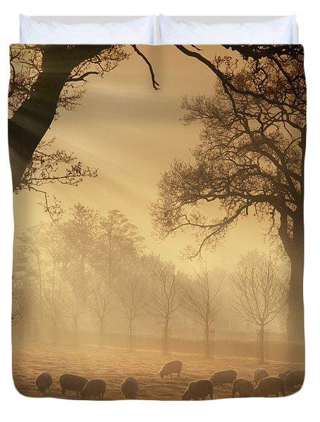 Winter's Gold Duvet Cover