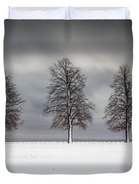 Winter's Halo Duvet Cover