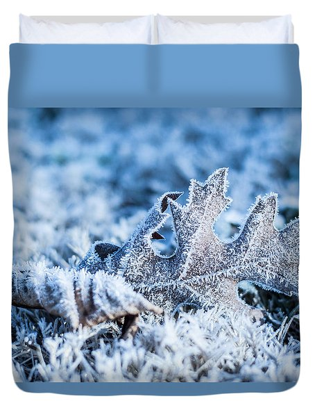 Winter's Icy Grip Duvet Cover