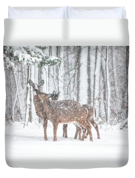 Winters Love Duvet Cover