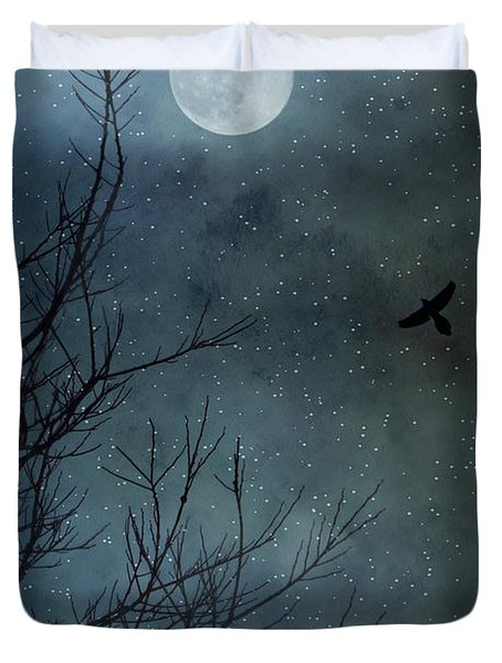 Winter's Silence Duvet Cover