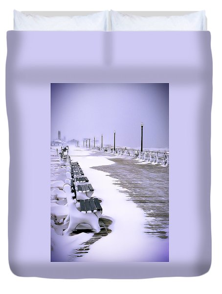 Winter's Silence Duvet Cover by William Walker